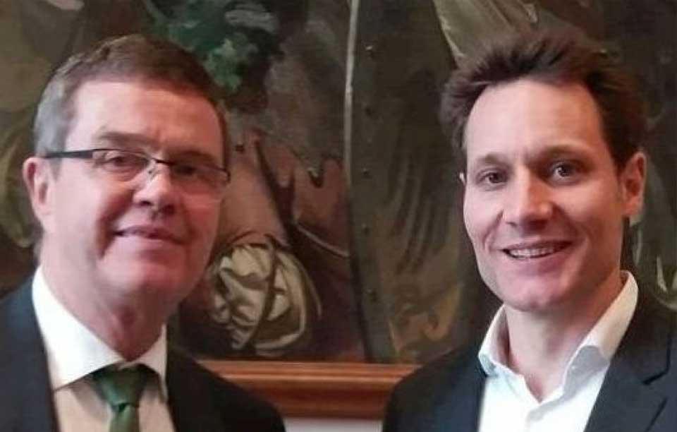 Spitzenkandidat Hartmann im Gespräch mit BBB-Chef
