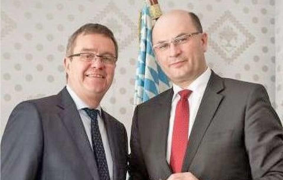 Albert Füracker und BBB-Chef Rolf Habermann