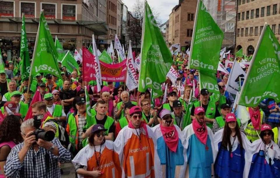 Einkommensrunde 2018 für Bund und Kommunen Protestkundgebung in Nürnberg!