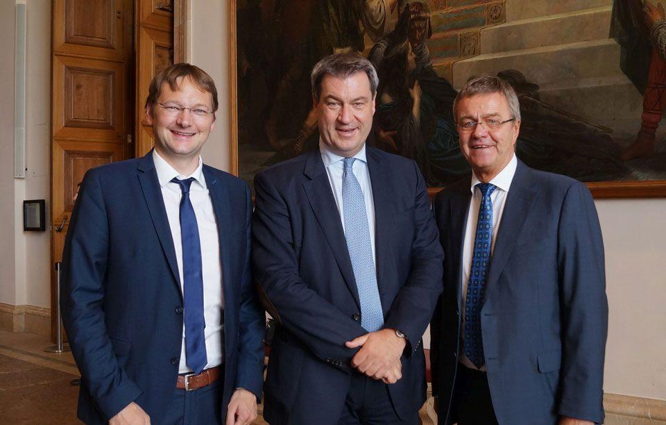 Produktiver Austausch im Bayerischen Landtag Söder & Reichhart