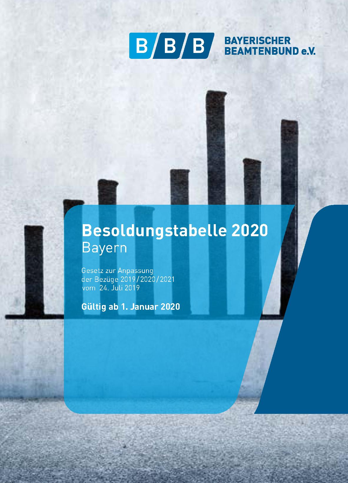 191202_Besoldungstabelle 2020 Cover