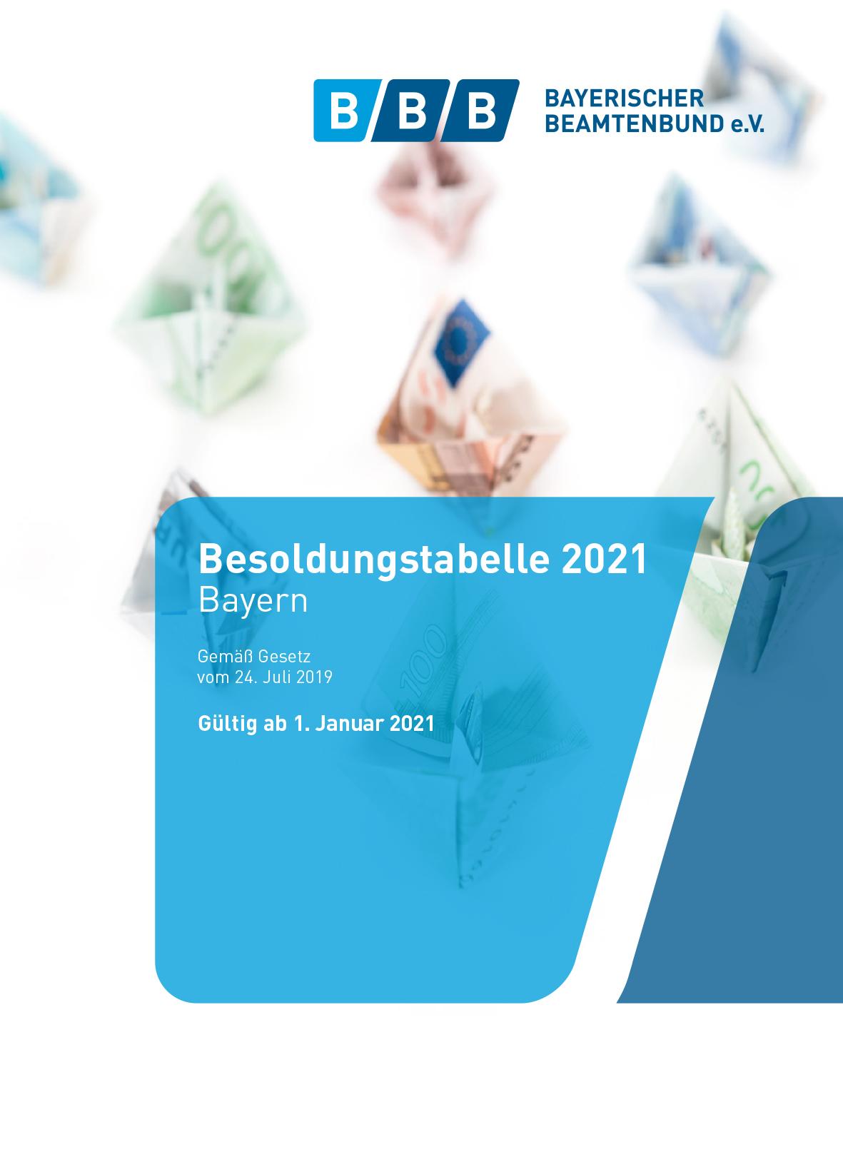 Besoldungstabelle 2021